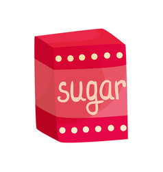 Pack of sugar vector