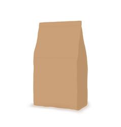 Paper package sachet cartoon flat mock-up vector