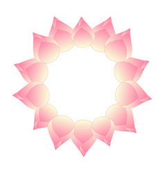 Pink bud indian lotus wreath vector