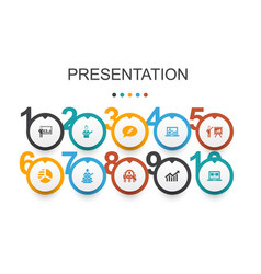Presentation infographic design templatelecturer vector