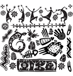 Primitive art design elements vector