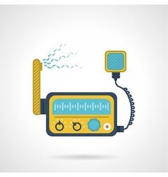 Radio transceiver flat icon vector image