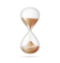 Realistic hourglass sandglass 3d mock up vector