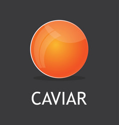 Red salmon caviar vector