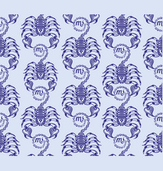 repaint seamless pattern ranks scorpions vector image