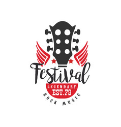 rock music festival legendary est 1979 logo vector image