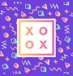 Romantic love xoxo minimal logo in frame on vector