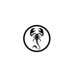 scorpion symbol icon vector image