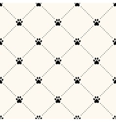 seamless animal pattern of paw footprint vector image