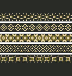 Seamless decorative borders vector