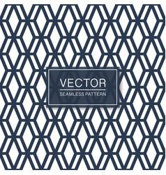 seamless geometric hexagonal grid pattern vector image