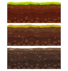 Seamless soil layers layered dirt clay ground vector