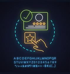 Select hotel class neon light concept icon vector