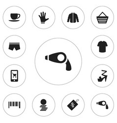 set of 12 editable trade icons includes symbols vector image vector image