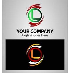 Set of Letter L logo icon element vector
