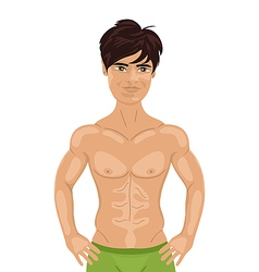 Sexy guy isolated vector