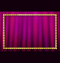 shining retro light banner vector image