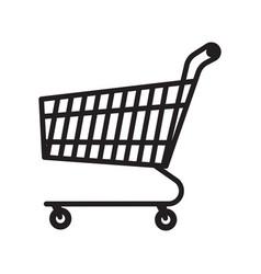 shopping cart icon isolated on white background vector image