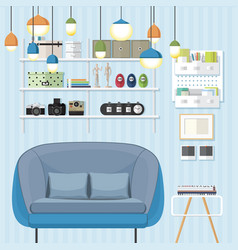 Sleek living room vector
