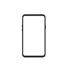 smartphone device isolated on white background vector image