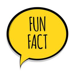 Speech bubble fun fact icon eps10 vector
