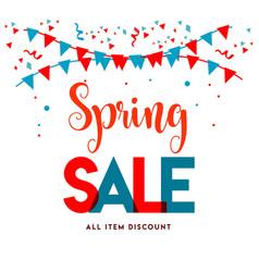Spring sale template design vector
