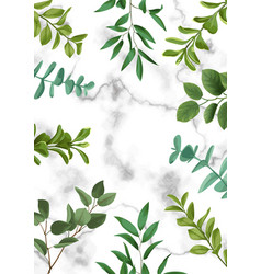 Template frame from greenery vector