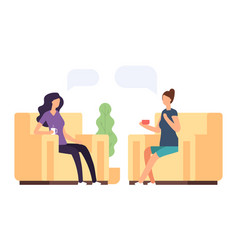two women are talking psychoteraphy vector image