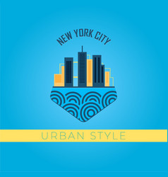 urban style vector image