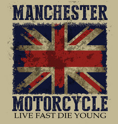 vintage on theme british motorcycle in vector image