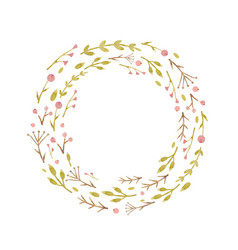 watercolor abstract floral wreath vector image