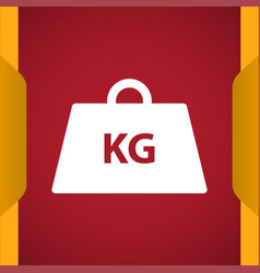 Weight kg icon for web and mobile vector