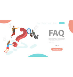 Why question faq - frequently asked questions vector