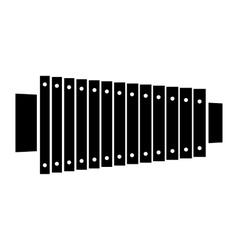 Xylophone black icon vector