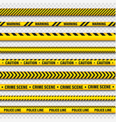 Yellow and black barricade construction tape on vector