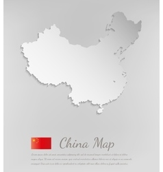 China map white card paper 3D vector image