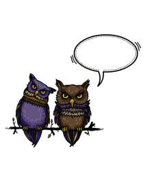 cute owls-100 vector image vector image