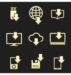 Different devices downloading data set vector image vector image