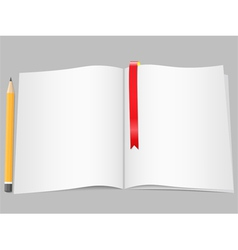 Blank Pages with Pencil vector image