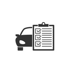 car service list icon vector image vector image