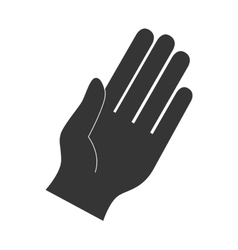 hand fingers palm direction gesture icon vector image
