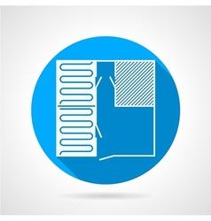 Heated floor flat icon vector image vector image