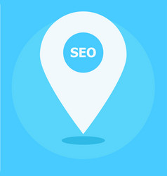 local seo marketing banner icon vector image vector image