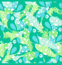 pattern with feathers and parrot vector image