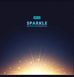 sparkle sunbeam on halftone vector image