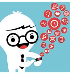 smart watch gadget concept cartoon vector image