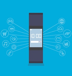 smartwatch wearable technology device vector image