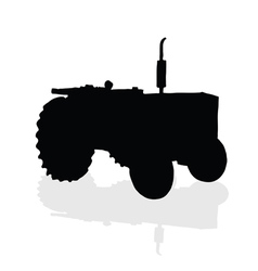 tractor black silhouette vector image