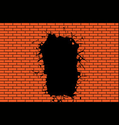 background from a brick wall vector image