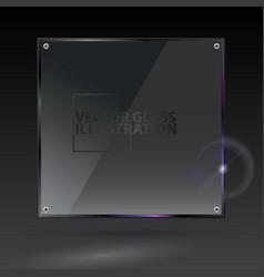 black square glass - - transparent vector image